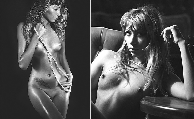 Личные и студийные снимки стройной модели 19 фото