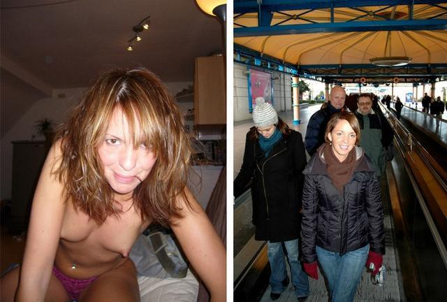 Набор фото голых и в одежде 13 фото