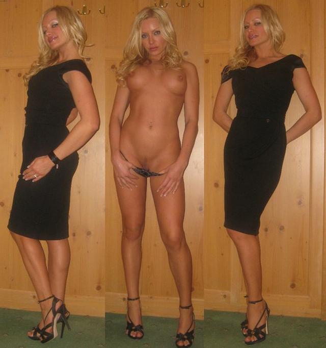 Замужняя блондинка с длинными ногами позирует для молодого любовника 3 фото
