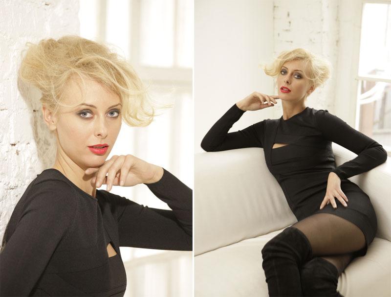 Красивая блондинка с большими сиськами в жизни и в студии 8 фото