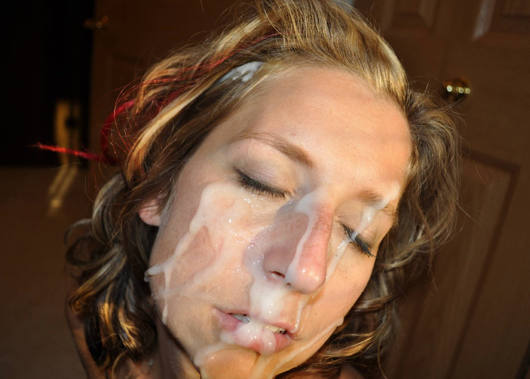 Красотки со спермой на лице после минета 4 фото